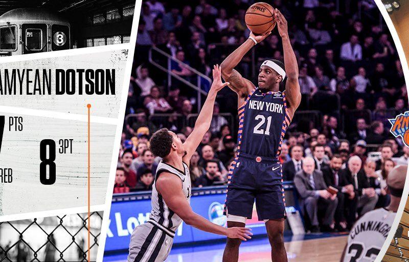 New York Knicks i shkakton edhe një humbje San Antonio Spurs