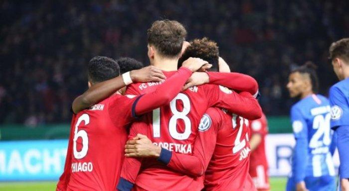 Bayern Munich në çerekfinale të Kupës së Gjermanisë, pas fitores së mundimshme ndaj Herthas