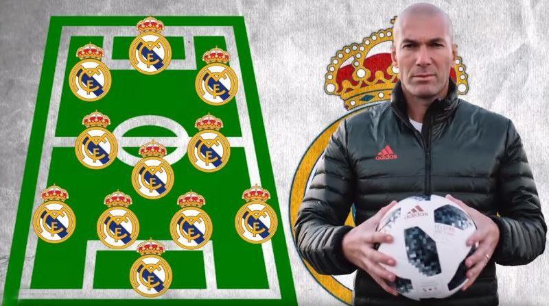 Zbardhet top-formacioni i Realit, Zidane me pesë yje të rinj