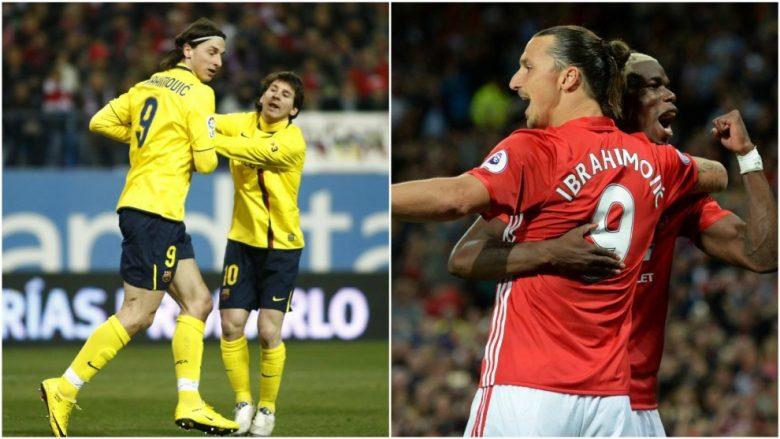 Ibrahimovic: Barcelona kundër United do të jetë edhe betejë mes Messit dhe Pogbas