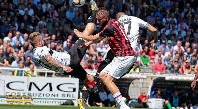Milan ndalet nga Parma