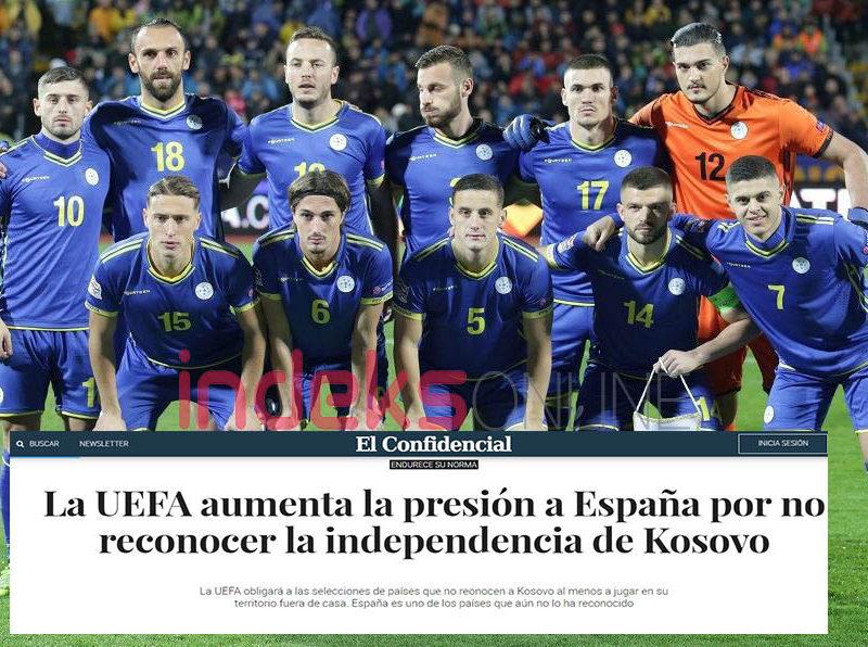 EL Confidencial: UEFA rrit presionin ndaj Spanjës për mos njohjen e pavarësisë së Kosovës