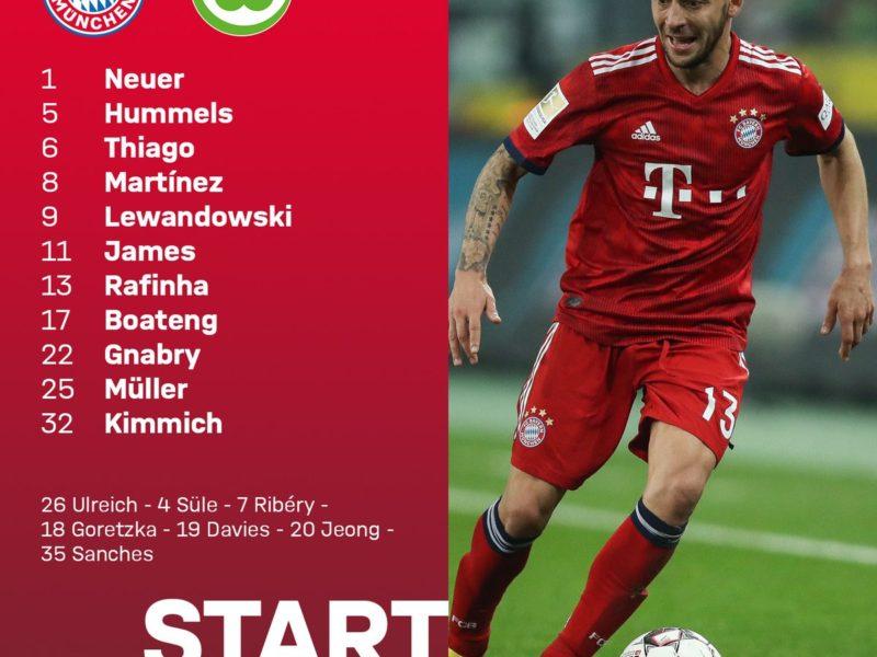 Bayern – Wolfsburg, Ribery në stol, starton James Rodriguez