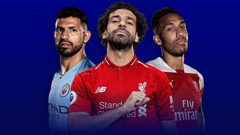 Katër futbollistë në garë për 'Këpucën e Artë' në Angli, Salah mbetet favorit